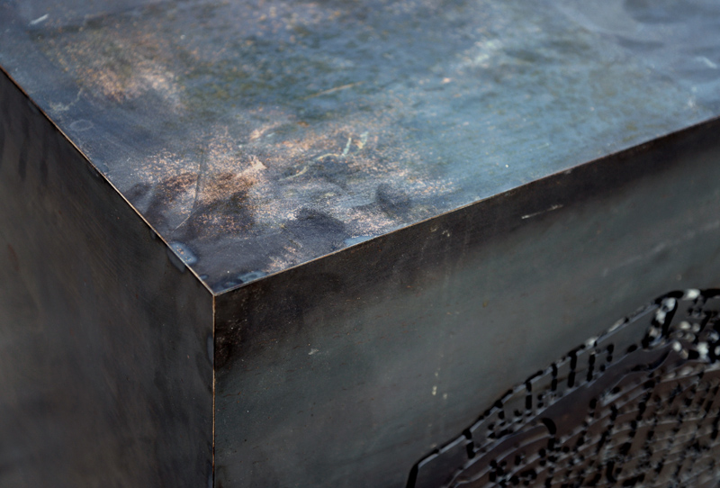 Beirut | Cube | Map | Lighting | Side Table | Rusted Steel
