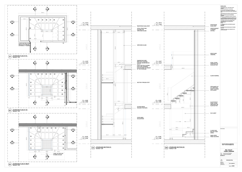 Interior Design | Drawings | Stairs Details